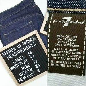 7 For All Mankind Jeans - NWOT 7FAMK Mens Standard Straight Button Fly Jeans